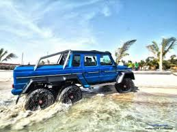 mercedes amg 6x6 cost beastly mercedes amg g63 6x6 takes a casual dip in the sea