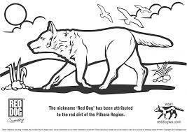 reddogwa free red dog colouring pages childrenplease