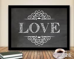 Valentine S Day Wall Decor by Love Art Print Printable Art Wall Decor Chalkboard Print Instant