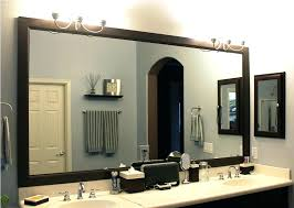 framed bathroom mirror ideas mirror borders bathroom akapello