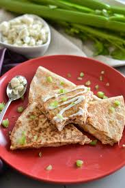 spicy tuna quesadilla with 2 ingredient blue cheese dressing the