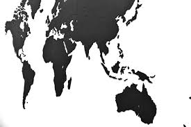 World Map Silhouette Channel Distribution Gifts En Gadgets Mimi Luxury Wooden World