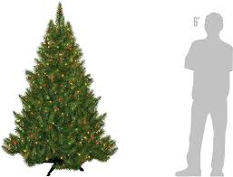 amazon com portland fir tree 6 5 feet 450 multi color lights