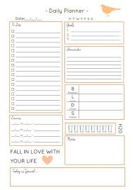 daily planner pdf free make the most of everyday free daily planner download planners