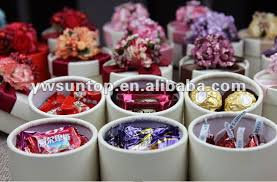 2017 newest sweety pink flower chocolate gift boxes