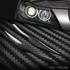 bmw headlights 3 series carbon fiber headlight eyelids eyebrows cover trim 2pcs fit for