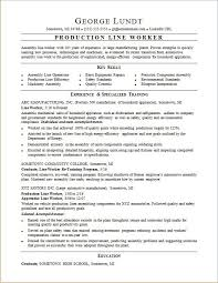 production resume template production line resume sle