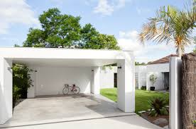 Carport Designs House Breeze Block Simple Flat Roofed Carport Home Design