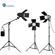 light stand limostudio 3 x led day light bulb barndoor light stand video