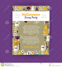 free halloween party flyer templates trick or treat halloween party invitation vector template flyer