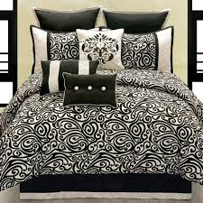 Brocade Duvet Cover Black And White Damask Bedding Comforter U0026 Sheets