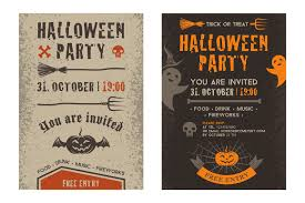 halloween party invitation card flyer templates creative market