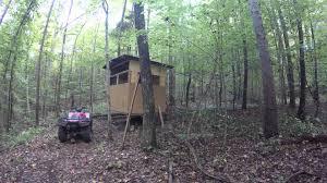Deer Blind Plans 4x6 How To Build A Deer Blind Shooting Blind Youtube