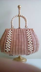 296 best wicker handbags images on pinterest vintage purses