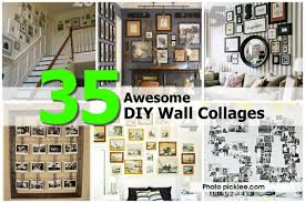 Picture Wall Collage by 35 Awesome Diy Wall Collages