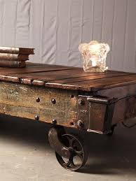 Rustic Coffee Table With Wheels Remarkable Rustic Coffee Table With Wheels Interiorvues Regarding