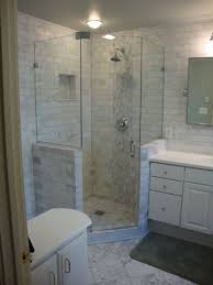 Bathrooms With Corner Showers Fully Frameless Neo Angle Shower Glass To Glass Pivot Hinges