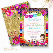 baby shower invitation mexican baby shower