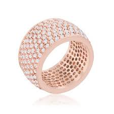 gold band ring market wide pave cubic zirconia gold band ring