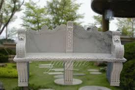 natural marble garden decor garden marble flowerpot and bench