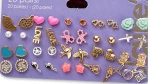 claires earrings min order 10 stud earring pack set 20 pairs birdicecream