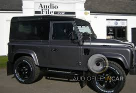 custom land rover defender land rover defender audio upgrades