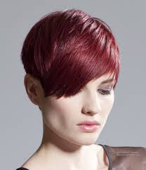 short above the ears tomboy haircut rose hair color