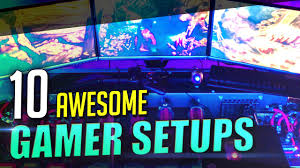 Gaming Setups Top 10 Awesome Gaming Setups Youtube
