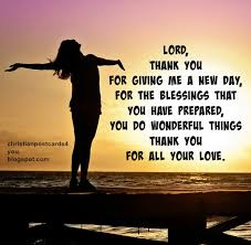 morning prayer thank you lord for giving me a new day christian