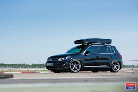 custom volkswagen tiguan black volkswagen tiguan boasts thule roof rack and more goodies