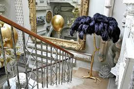 exquisite regency sculptural ostrich feather palm tree