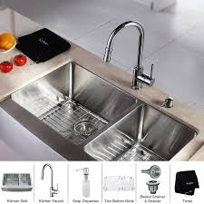 kitchen sink and faucet combo faucet khf203 33 kpf1622 ksd30ch in stainless steel chrome