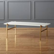 rectangular marble coffee table modern coffee tables cb2
