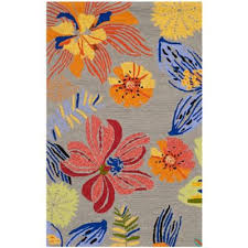 Hibiscus Rug Buy Orange Floral Rug From Bed Bath U0026 Beyond