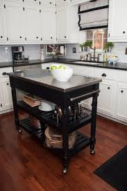 butcher block island tops chrome bar stools with back modern dark