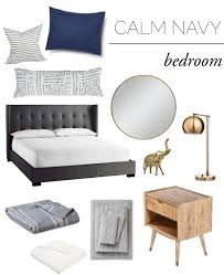Navy Bedroom The End Of The Bedding Struggle The Vintage Rug Shop The Vintage