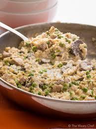 turkey mushroom gravy recipe details this creamy rice skillet dinner is loaded with chicken mushroom