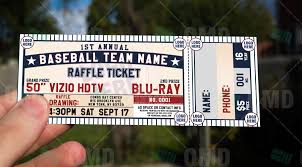ticket template sports invites classic baseball raffle ticket template