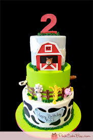 2nd birthday farm animal cake birthday cakes