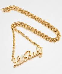 gold images necklace images King ice women 39 s lil baby gold necklace zumiez jpg