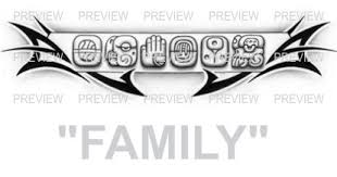 family mayan glyphs design a aztec tattoos aztec