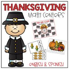 thanksgiving math centers and by miss