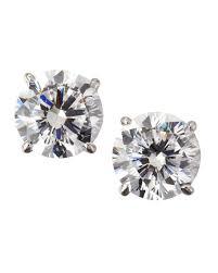 cubic zirconia stud earrings fantasia by deserio 14k white gold cubic zirconia stud earrings