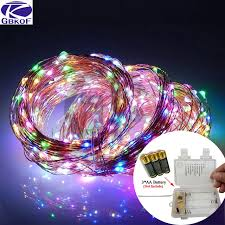 copper wire led lights 5m 10m copper wire led string lights waterproof holiday led lighting