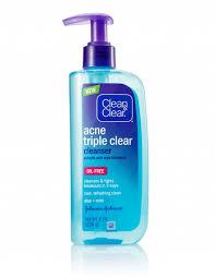 acne triple clear cleanser clean clear