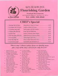 family garden menu flourishing garden restaurant menu san jose dineries