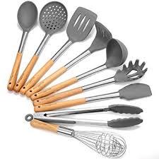 ustensile de cuisine silicone ustensiles de cuisine set godmorn 9 pièce outil de cuisine ustensile