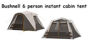 bushnell 6 person instant cabin tent first time set up youtube