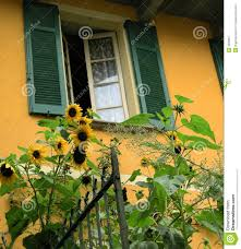 The Tuscan House Tuscan Villa With Sunflowers Tuscany Royalty Free Stock