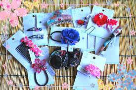 japanese hair accessories kimono and yukata hair accessories gift set assortment